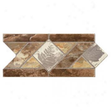 Dune Emphasis Ceramic Borders Floor 6x12 Lithos Marron Tile & Stone