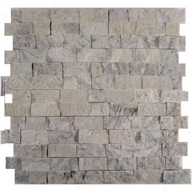 Dune Emphasie Stone Mosiacs Travertino Silver Basket Tile & Rock