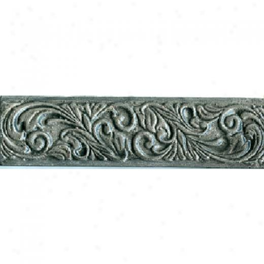Dune Etnos Resin 3x12 Aged Silver Flower Tile & Stone