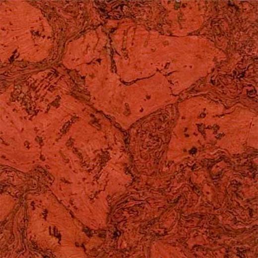 Duro Design Cleopatra Negra Cork Tiles 12 X 24 Scarlet Red Cork Flooring