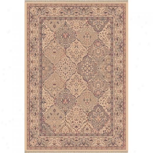 Dynamic Rugs Ancient Garden 5 X 8 Ivory Area Rugs