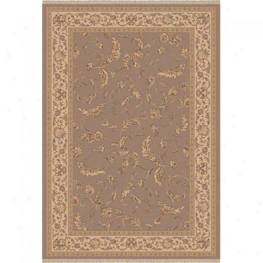Dynamic Rugs Ancient Garden 5 X 8 Malt Area Rugs