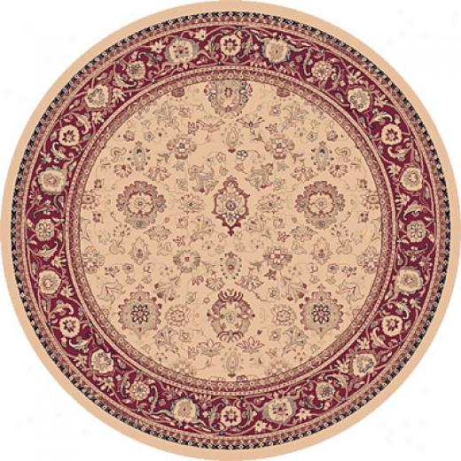 Dynamic Rugs Ancient Garden 8 Round Ivory Area Rugs