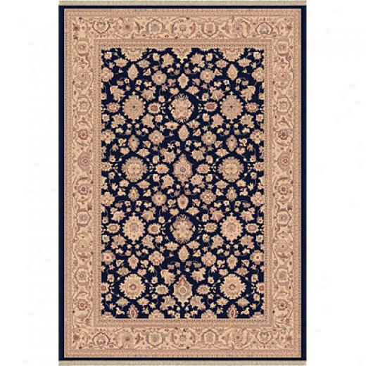Dynamic Rugs Ancient Garden 8 X 11 Navy Area Rugs