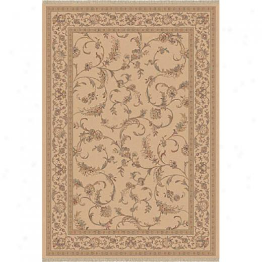 Dynamic Rugs Ancient Garden 8 X 11 Creme Area Rugs