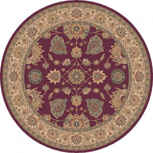 Dynamic Rugs Ancient Garden 8 Round Ruby Area Rugs