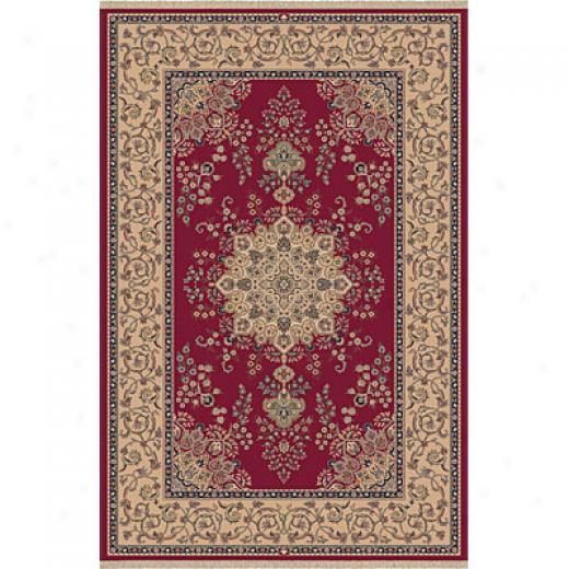 Dynamic Rugs Brilliant 2 X 5 Red Area Rugs