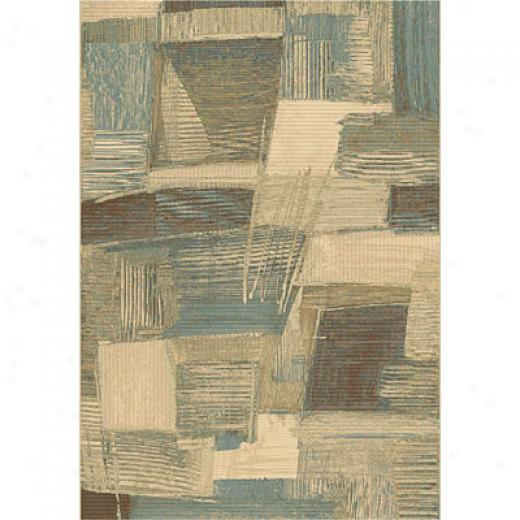 Dynamic Rugs Eclipse 5 X 8 Brown Blue Area Rugs