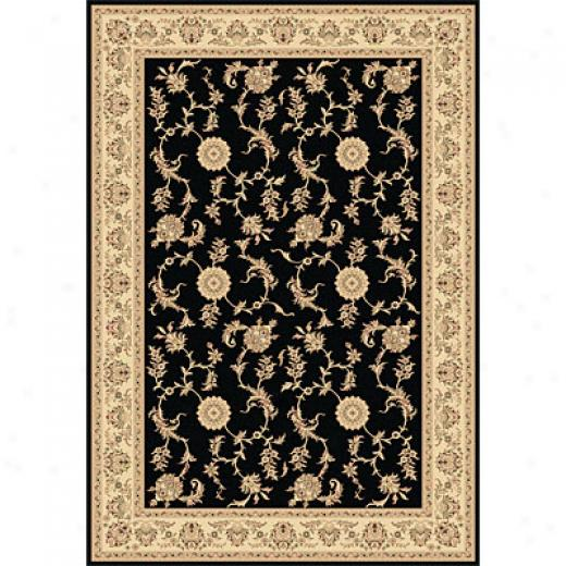 Dynamic Rugs Legacy 2 X 4 Black Area Rugs