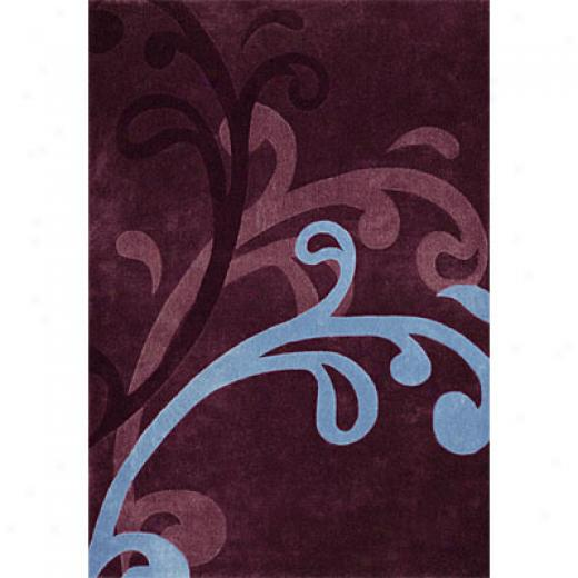 Dynamic Rugs Mystique 5 X 8 Wine Area Rugs