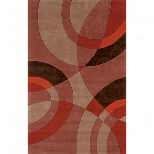 Dynamic Rugs Nolita 7 X 10 Burnt-orange Area Rugs