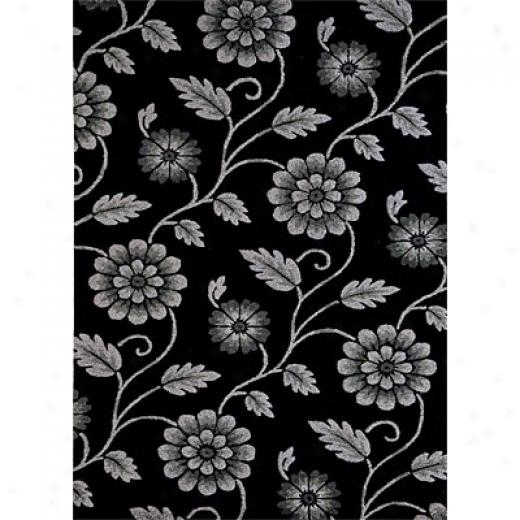 Dynamic Rugs Opulence 4 X 6 Blqck Area Rugs