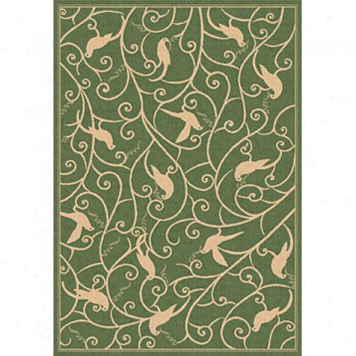 Dynamic Rugs Piazza 2 X 4 Green Area Ruvs