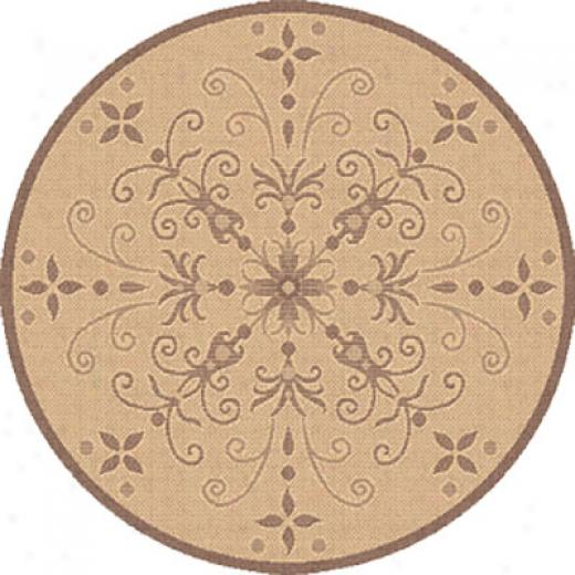 Dynamic Rugs Piazza 8 Ft Round Natural-red Area Rugs