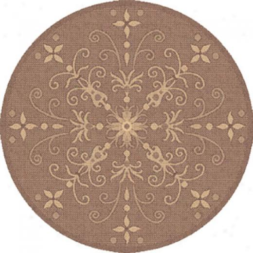 Dynamc Rugs Piazza 9 Round Brown Area Rugs