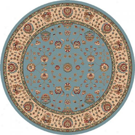 Dynamic Rugs Radiance 5 Rojnd Blue Area Rugs