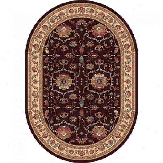Dynamic Rugs Radiance 5 X 8 Red Area Rugs