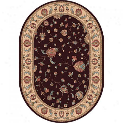 Dynamic Rgs Radiance 7 X 10 Oval Chocolate Area Rugs