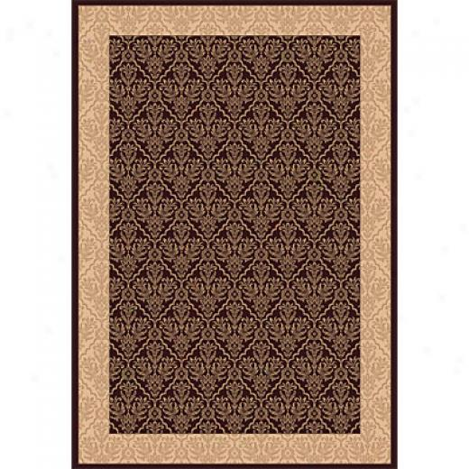Dynamid Rugs Radiance 8 X 11 Chocolate Area Rugs
