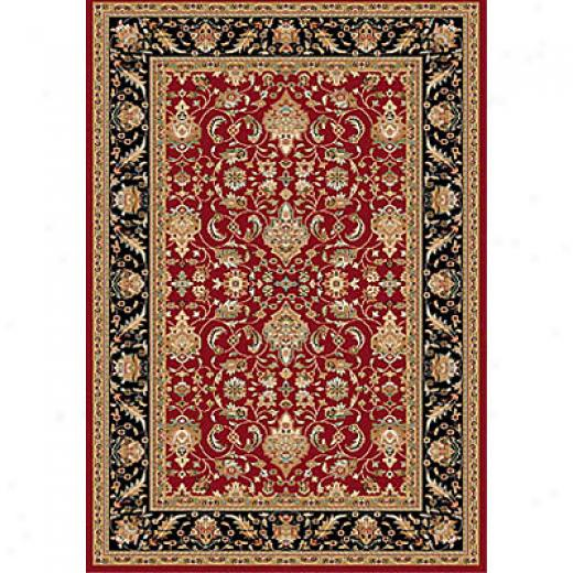 Dynamic Rugs Royal Garden 7 X 10 Red-black Area Rugs