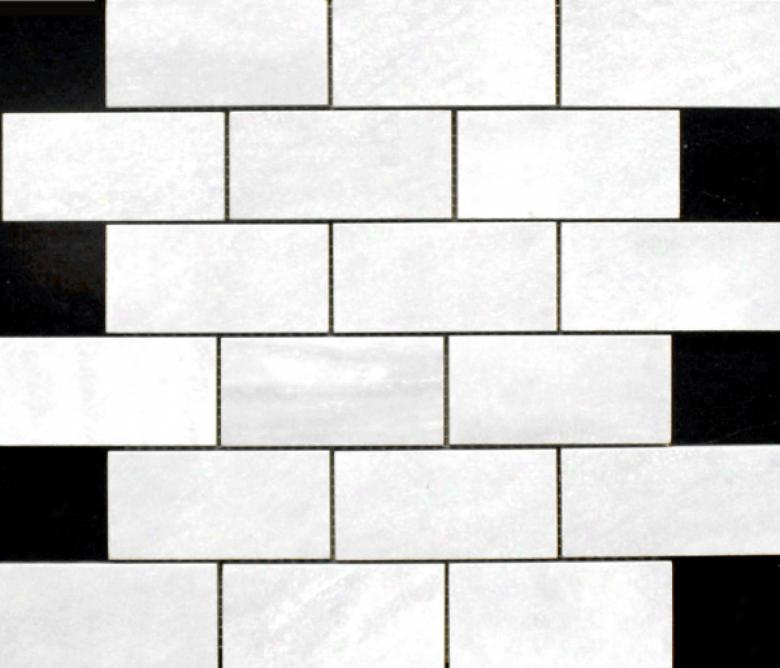 Edilcuoghi Ceramiche Yielding Marble Mosaic 2 X 4 White Tile & Stone
