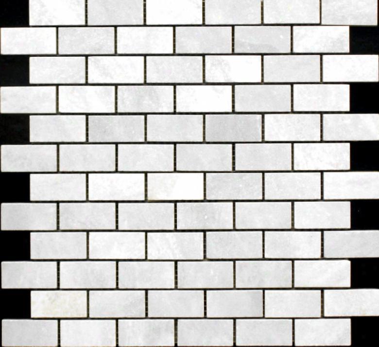 Edilcuoghi Ceramiche Easy Marble Mosaic 1 X 2 White Tile & Stone