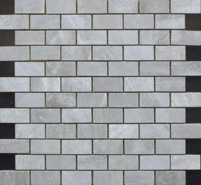 Edilcuoghi Ceramiche Easy Marble Mosaic 1 X 2 Smoke Tile & Stone