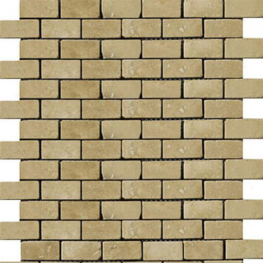 Emser Tile Antique & Tumbled Stone Mosaiv 1 X 2 O ffset Trav Ancient Tumbled Beige Tile & Stone