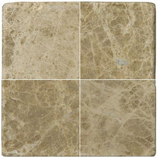 Emser Tile Antique & Tumbled Stone 4 X 4 Marbie Ancient Tumnled Emperador Lt. Tile & Stone