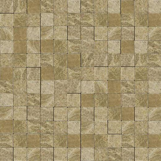 Emser Tile Antique & Tumbled Stone Mosaic 1 X 1 Square Marble Ancient Tumbled Emperador Lt. Tile & Stone