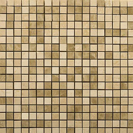 Emser Tile Marble Mosaic Blends Crema Marfil/emperador Light Tile & Stone
