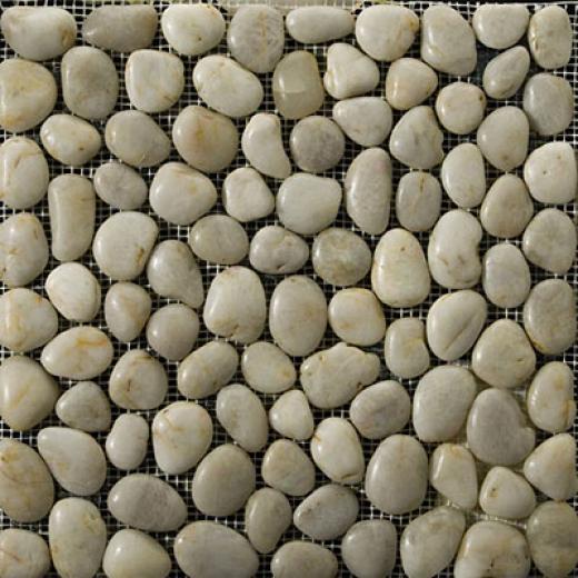 Emser Tile Rivera Pebble - Flat Rivera Pebble Cream Tile & Stone