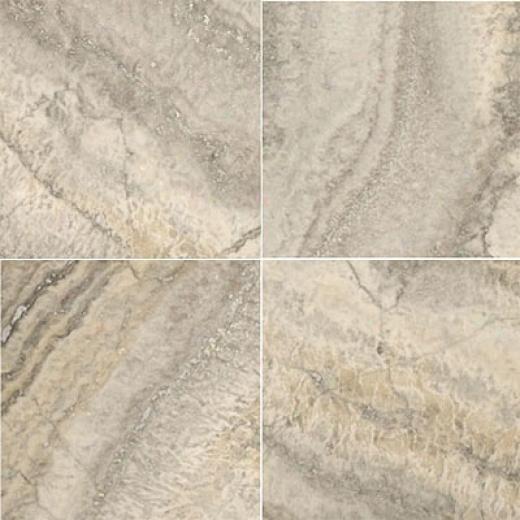 Emser Tile Travetine Crosscut 18 X 18 Silver Tile & Stone