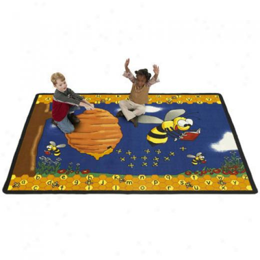 Flagship Carpets Busy Bees 6 X 9 Busy Bees Area Rugs