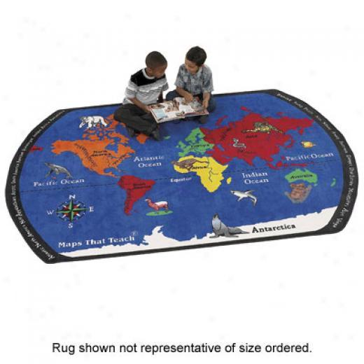 Flagship Carpets Maps That Teach 6 X 9 Maps That Teach Area Rugs