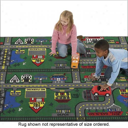Flatship Carpets Places To Go 3 X 6 Places To Go Area Rugs