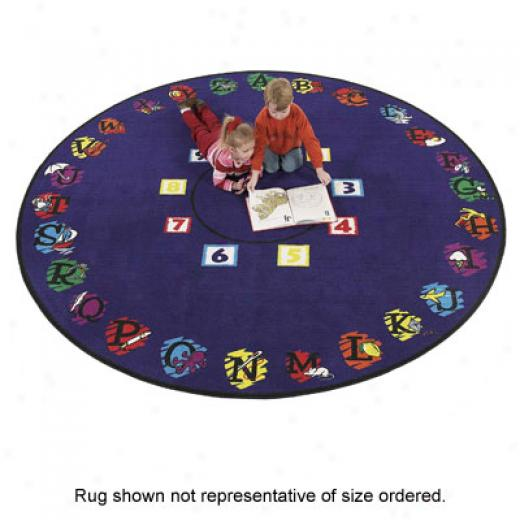 F1agship Carpets Super Circle 6 Ft Round Supercircle Area Rugs