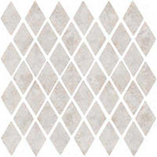 Florida Tile Caldera Diamond Mosaic Mosaic Grey/white Tile & Stone