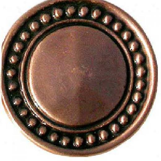 Florida Tile Metal Art Round Buckle 2 X 2 Copper Buckle Br2 Tile & Stone