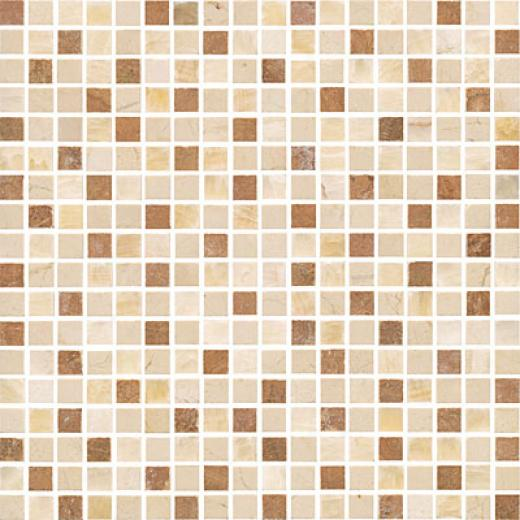 Florida Tile Pierta Art Mosaics 5/8 Polished Honey Onyx/crema Marfil/timber Tile & Stone