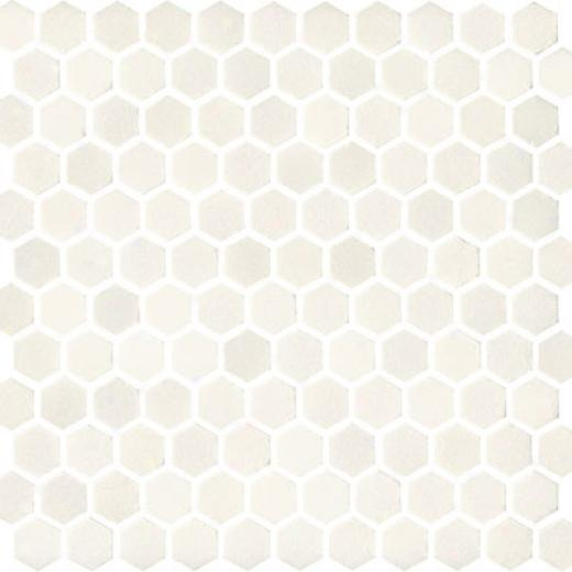 Florida Tile Pierta Art Mosaics Hexagon Polished China White Tile & Stone