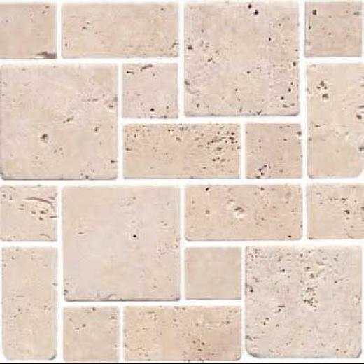 Florida Tile Pietra Art Stone Roman Pattern Mosaic Brown Tile & Stone
