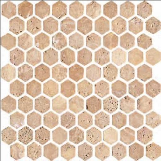 Florida Tile Pietra Art Stone Hexagon Mosaic Hexagon Yellow Tile & Stone