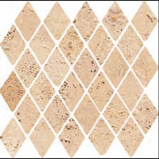 Florida Tile Pietra Art Stone Diamond Mosaic Yellow Tile & Stone