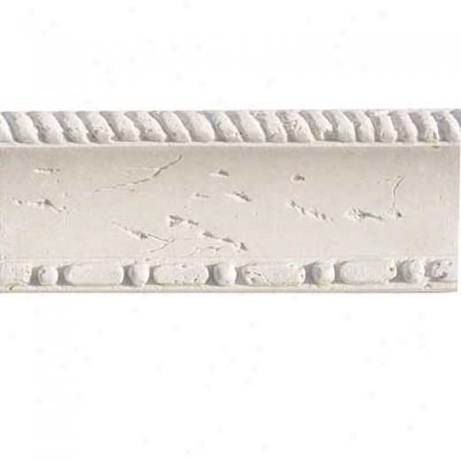 Florida Tile Resin Art - Chair Rail Chair Rail White Tile & Stone