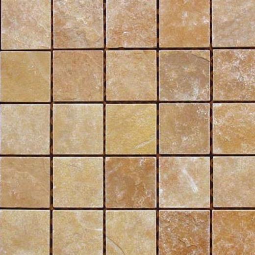 Fondovalle Slate Valley Foglio Mosaic Hay (beige) Tile & Rock