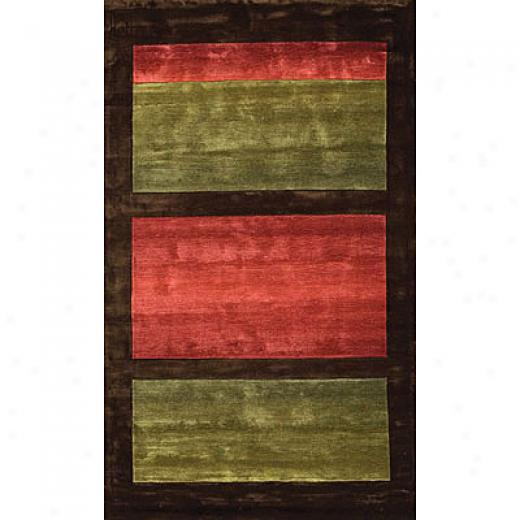 Fpreign Accents Festival Blocks 5 X 8 Green Area Rugs
