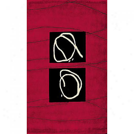 Foreign Accents Festival Blocks 8 X 10 Cranberry Area Rugs