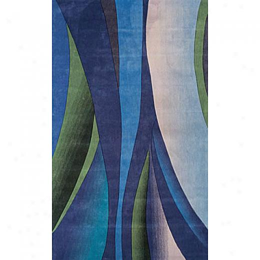 Foreign Accents Festival Waves 3 X 8 Runner Blue Area Rugs