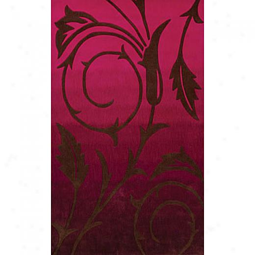 Foreign Acdents Festival Multi Colored 5 X 8 Burgundy Area Rugs